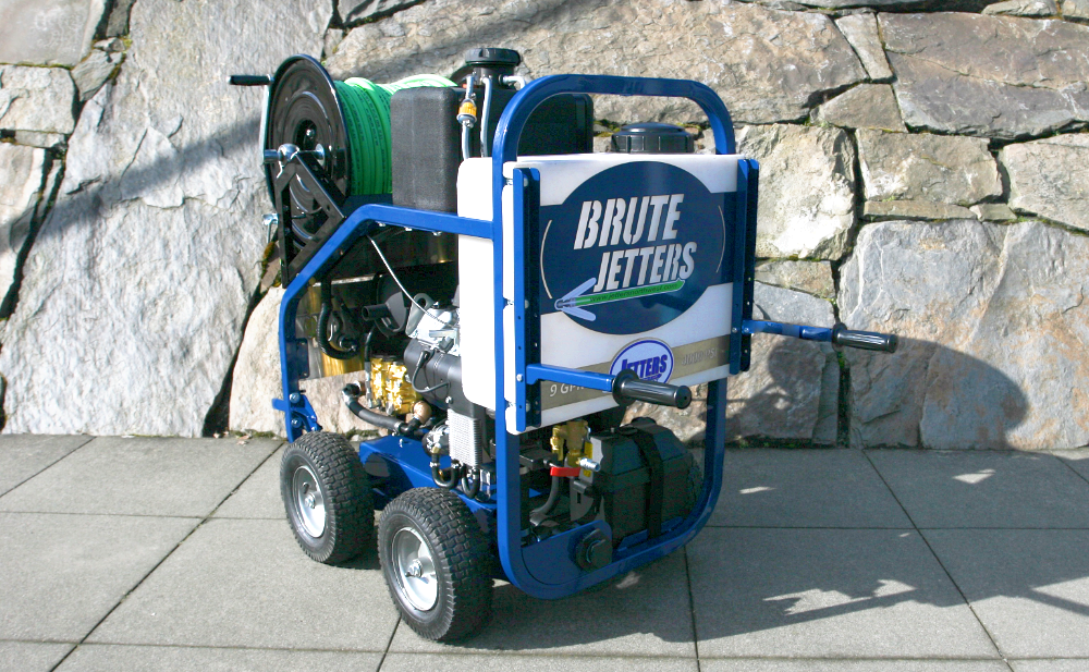 Brute Jetters hydrojetting machine used by First Chicago Plumbing
